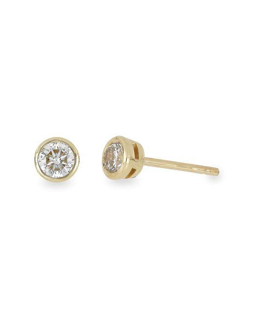 Bony Levy - Metallic 14k Yellow Gold Bezel Set Stud Earrings - 0.15 Ctw - Lyst