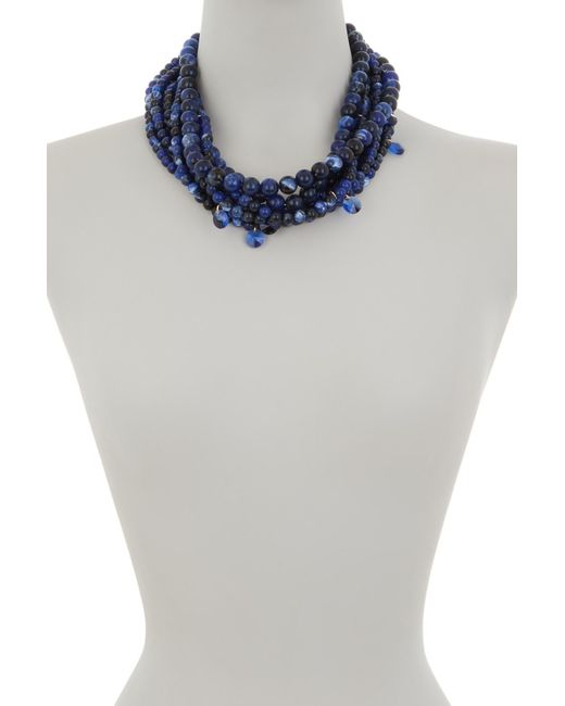 BaubleBar - Blue Bubblebeam Statement Necklace - Lyst