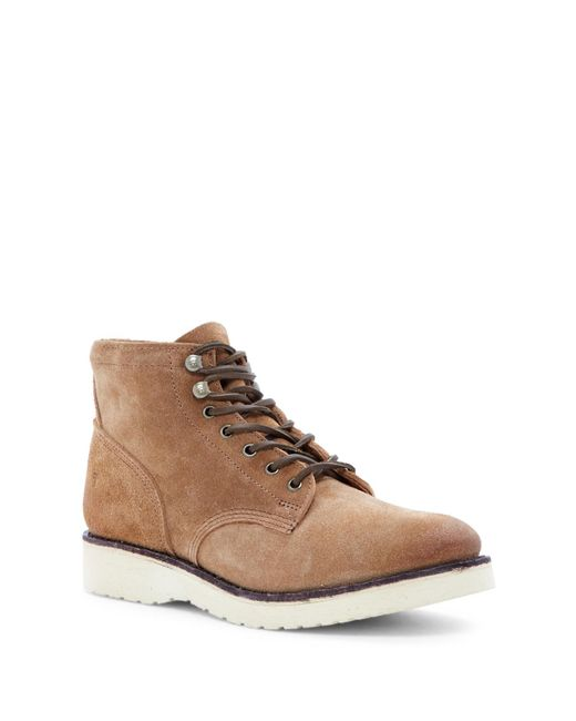 Frye | Brown Freeman Mid Lace Boot for Men | Lyst