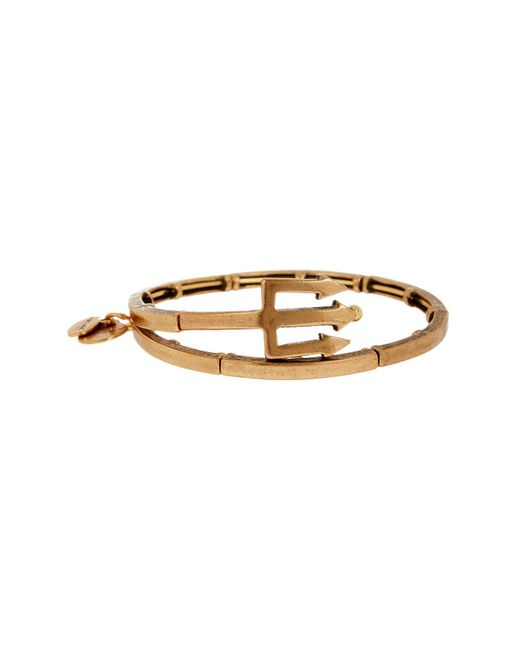 ALEX AND ANI | Metallic Trident Wrap Bracelet | Lyst