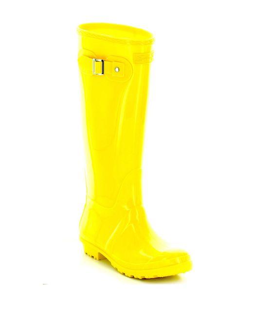 Seven7 - Yellow British Girl Rain Boot - Lyst