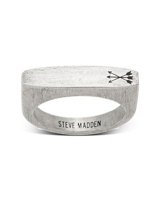 Steve Madden - Metallic Arrow Design Flat Bar Matte Ring - Size 10 for Men - Lyst