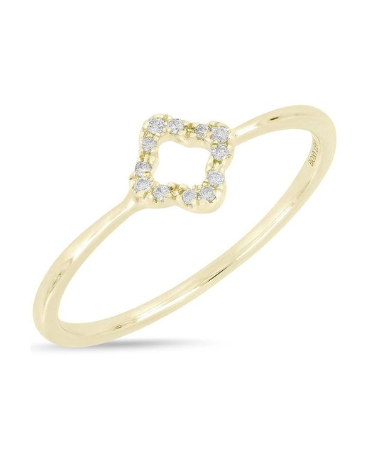 Bony Levy - Metallic 18k Yellow Gold Pave Diamond Open Diamond Ring - 0.04 Ctw - Lyst