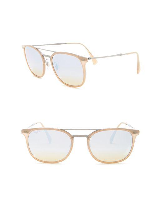 db7d0c8729d Ray-Ban - Natural 55mm Navigator Sunglasses for Men - Lyst ...
