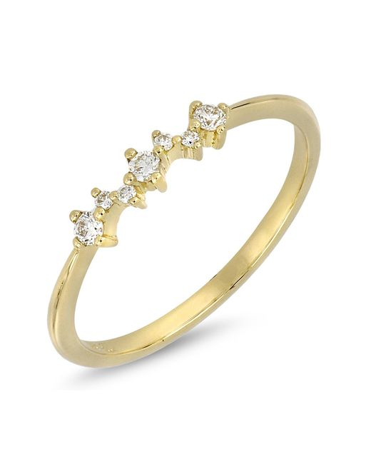 Bony Levy - Metallic 18k Yellow Gold Prong Set Faceted Round Diamond Stackable Ring - 0.10 Ctw - Lyst