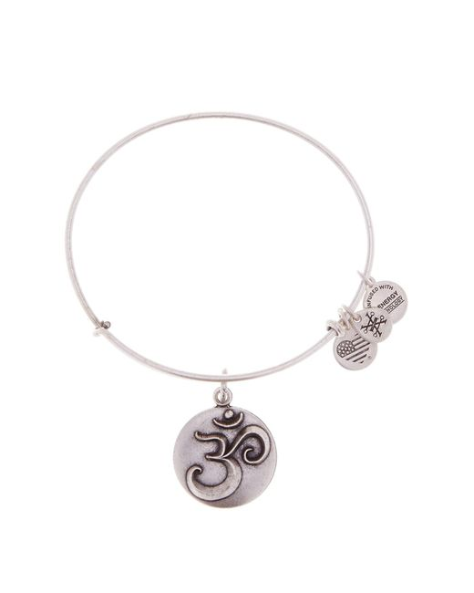 ALEX AND ANI - Metallic Om Iii Charm Expandable Wire Bracelet - Lyst