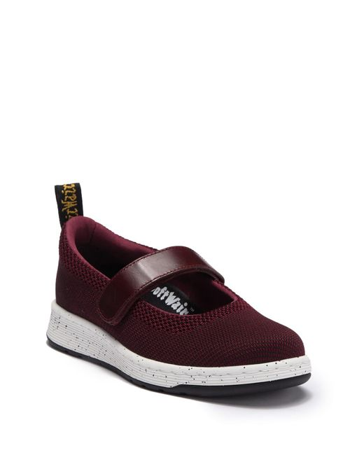 Dr. Martens - Red Askins Knit Mary Jane Sneaker - Lyst
