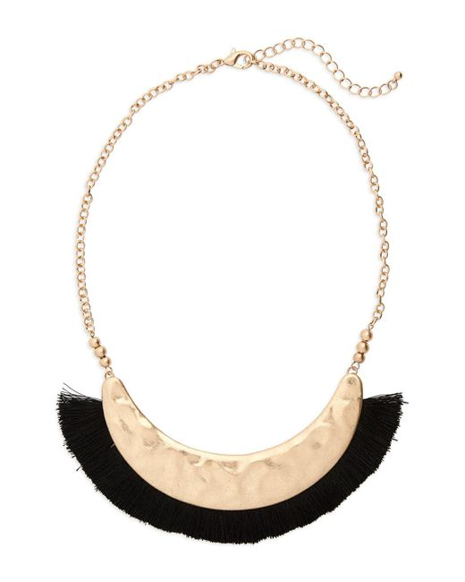 Panacea - Black Fringe Collar Necklace - Lyst