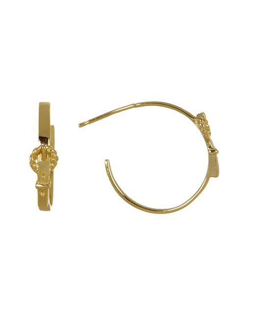 Argento Vivo | Metallic Mini Buckle C-hoop Earrings | Lyst
