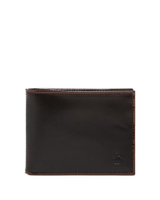 Original Penguin - Black Brush Off Bi-fold Wallet for Men - Lyst