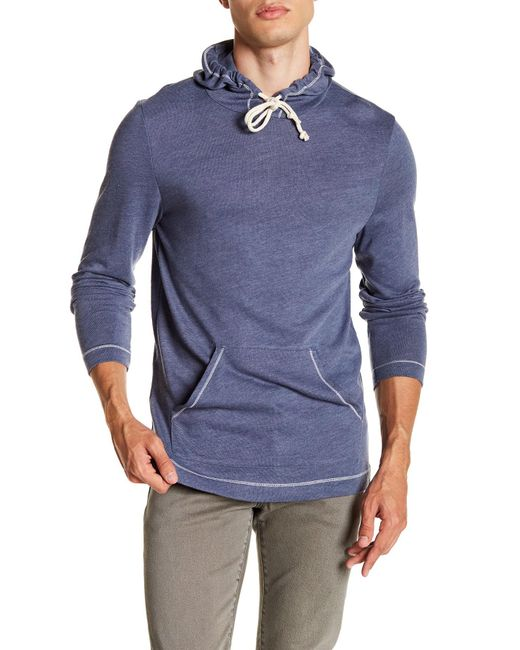 Alternative Apparel - Blue Contrast Stitch Hoodie for Men - Lyst