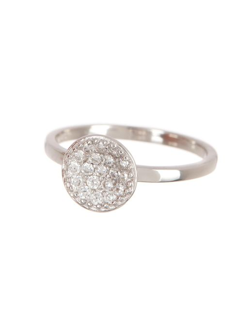 Argento Vivo - Metallic Sterling Silver Pave Cz Round Fashion Ring - Lyst