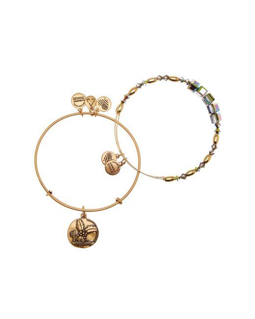 ALEX AND ANI | Metallic Holly Pendant & Bead 2-piece Bracelet Set | Lyst