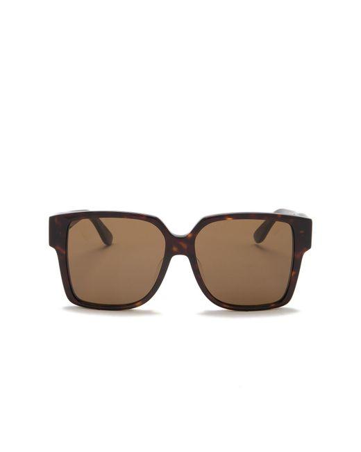 549422113e228 ... Saint Laurent - Brown 55mm Square Sunglasses for Men - Lyst ...