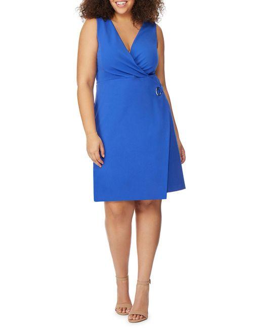 REBEL WILSON X ANGELS - Blue Grommet & Tie Wrap Dress (plus Size) - Lyst