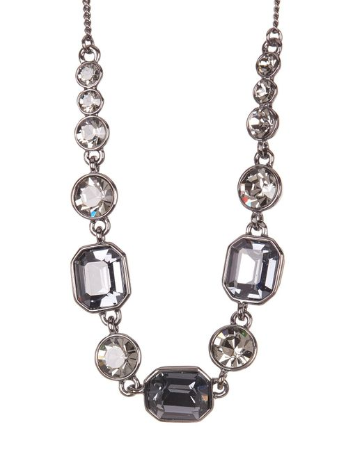 Givenchy | White Square Stone Crystal Necklace | Lyst