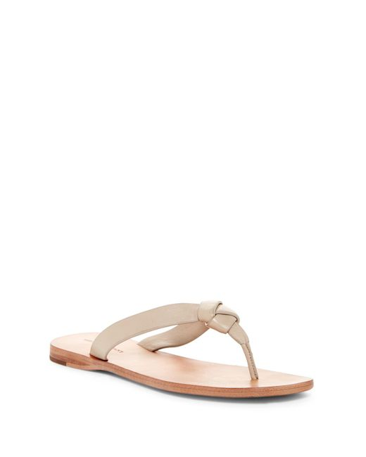 Frye | Natural Perry Knot Thong Sandal | Lyst