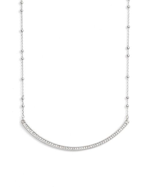 Rebecca Minkoff | Metallic Crystal Bar Collar Necklace | Lyst