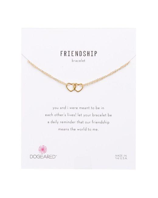 Dogeared - Metallic 14k Gold Vermeil Friendship Linked Open Heart Bracelet - Lyst