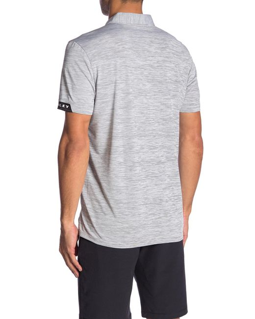 b7431bb049 ... Oakley - Gray Gravity Tailored Fit Polo for Men - Lyst