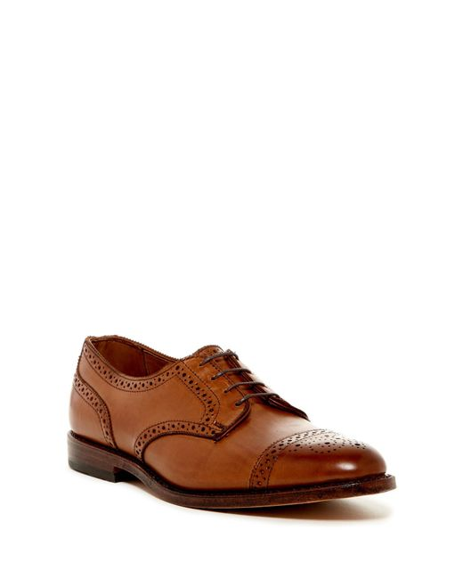 Allen Edmonds - Brown 6th Avenue Semi Brogue Derby - Extra Wide Width Available for Men - Lyst