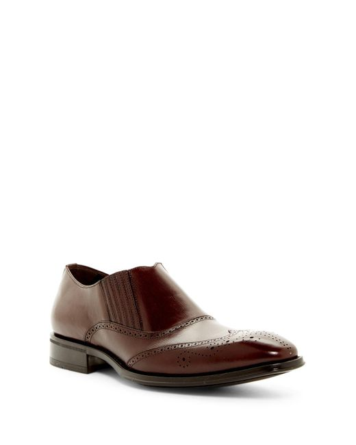 Mezlan - Brown Wingtip Slip-on Shoe for Men - Lyst