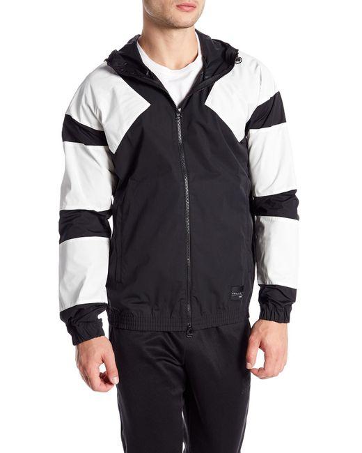 Adidas Originals - Black Colorblock Unlined Windbreaker for Men - Lyst