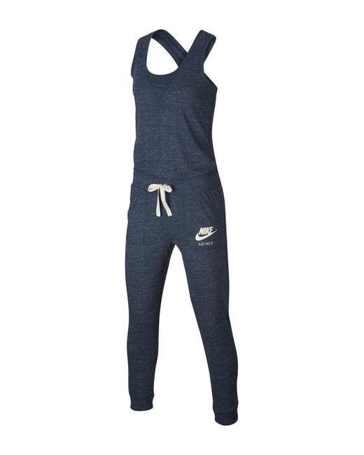 e2248c702c41 ... Nike - Blue Sleeveless Gym Vintage Jumpsuit - Lyst .