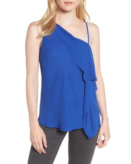 Trouvé | Blue Asymmetrical Sleeveless Top | Lyst