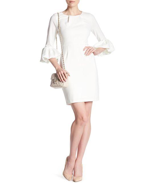 Alexia Admor | White Balloon Sleeve Sheath Dress | Lyst