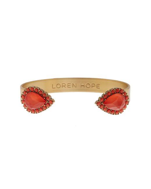 Loren Hope | Metallic Sarra Marquise Cut Pave Cuff Bracelet | Lyst