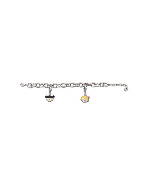 Swarovski - Metallic Rhodium Plated Crystal Accented Bracelet - Lyst