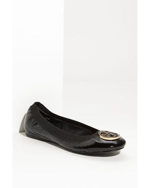 Tory Burch | Black Caroline Ballet Flat | Lyst