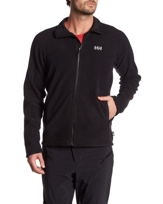 helly hansen velocity fleece jacket in black for men lyst. Black Bedroom Furniture Sets. Home Design Ideas