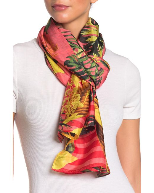d8603b3fd Vince Camuto - Multicolor Heavenly Jungle Silk Oblong - Lyst ...