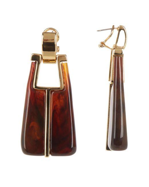 Trina Turk | Metallic Linear Drop Earrings | Lyst