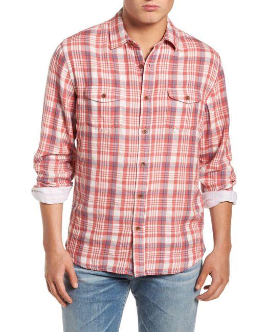 Grayers - Red Barnard Slim Fit Plaid Sport Shirt for Men - Lyst