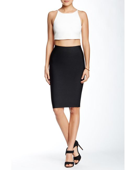 Wow Couture - Black Bodycon Pencil Skirt - Lyst