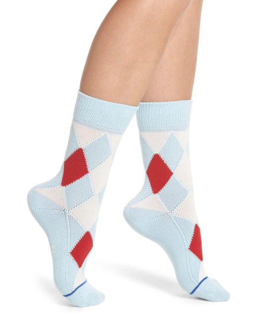 Paul Smith - Blue Finella Argyle Crew Socks - Lyst