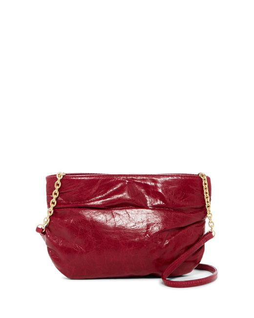 Hobo | Red Belle Ruched Leather Crossbody Bag | Lyst
