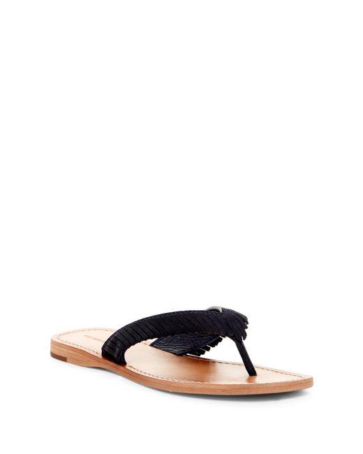 Frye | Blue Perry Fringe Thong Sandal | Lyst