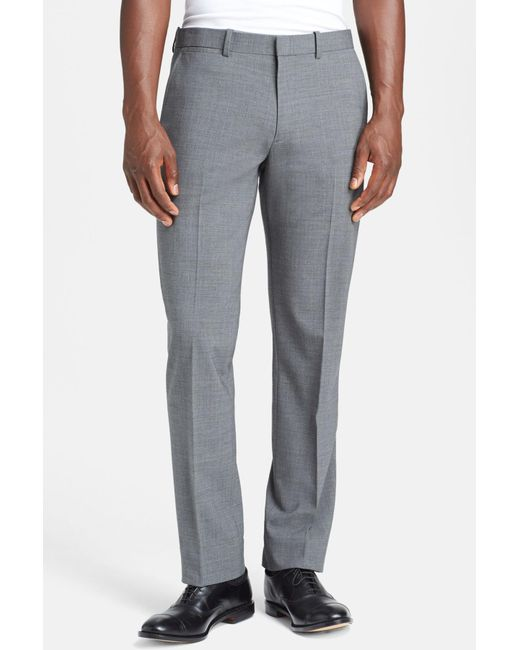 Theory - Gray Trim Fit Stretch Wool Marlo Pants for Men - Lyst