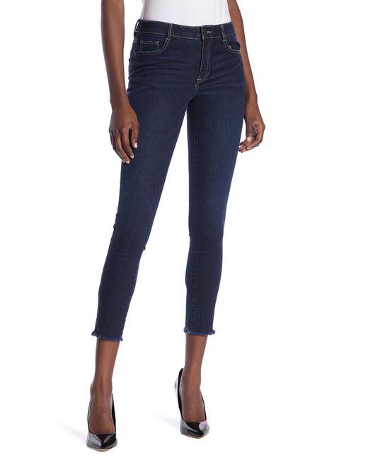 0800dd1e4e2 Jolt - Blue Fray Hem Skinny Jeans (juniors) - Lyst ...