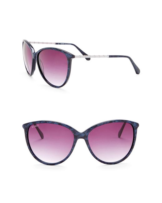 67fa6ec7b6 Balmain - Blue 59mm Rounded Cat Eye Sunglasses - Lyst ...