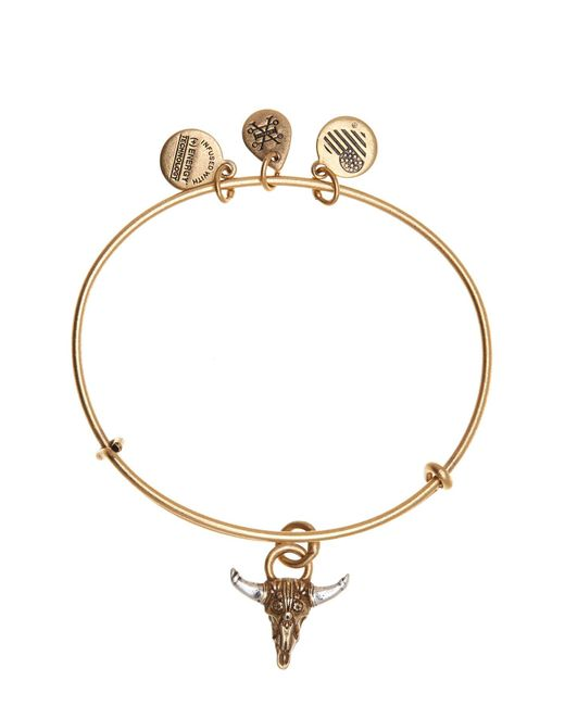 ALEX AND ANI - Metallic Spirited Skull Pendant Necklace - Lyst