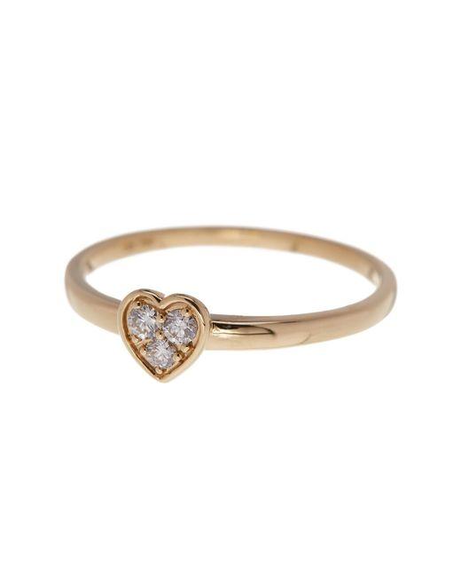Bony Levy | Metallic 18k Yellow Gold Stackable Diamond Heart Ring - 0.10 Ctw | Lyst
