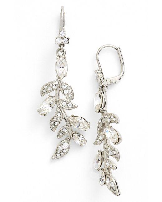 Marchesa   Metallic Leaf Drop Earrings   Lyst