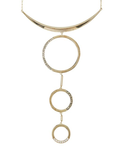 Judith Jack | Metallic 10k Gold Plated Gemstone Detail Open Circle Pendant Drop Necklace | Lyst