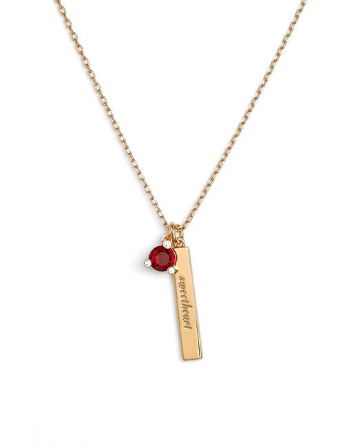 Kate Spade - Red Born To Be Pendant Necklace - Lyst