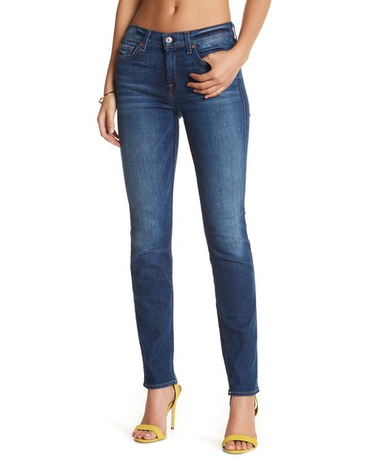 7 For All Mankind | Blue Roxanne A Pocket Jean | Lyst